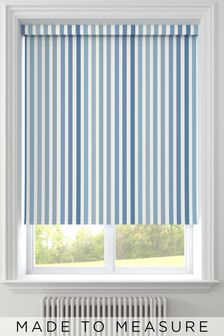Stripe Blue Made To Measure Roller Blind