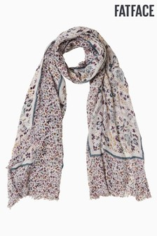 FatFace Natural Dragonfly Floral Border Scarf