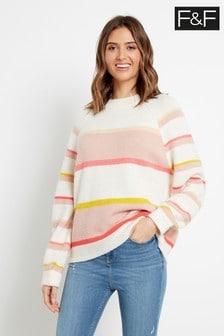 F&F Pink Blush Stripe Jumper