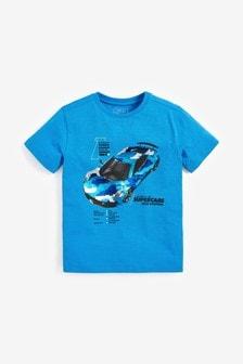 Camo Sequin Change Car T-Shirt (3-14yrs)