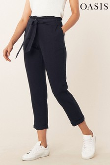 Oasis Blue Paperbag Peg Trousers