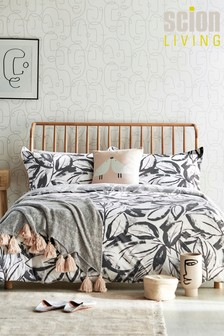 Scion Padua Abstract Leaf Cotton Duvet Cover