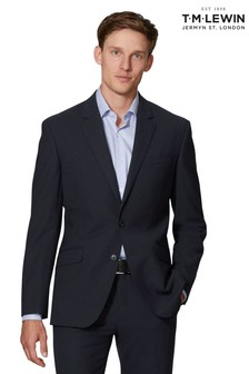 T.M. Lewin Kennington Navy Slim Fit Infinity Jacket