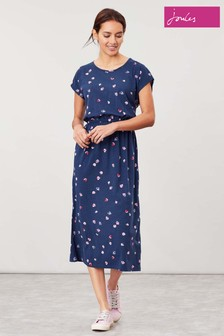 Joules Blue Alma Jersey Midi Dress