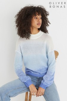 Oliver Bonas Blue Ombre Knitted Jumper