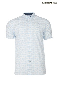 Raging Bull White Short Sleeve Floral Shirt