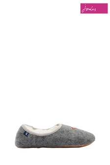 Joules Grey Mule Dachshund Slippers