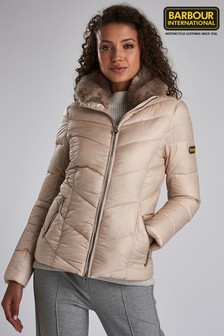 Barbour® International Oyster Quilted Jacket