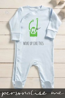 Personalised Woke Up Like This Sleepsuit