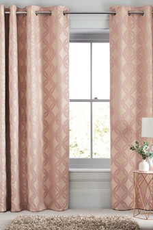 Manhattan Woven Geo Eyelet Curtains