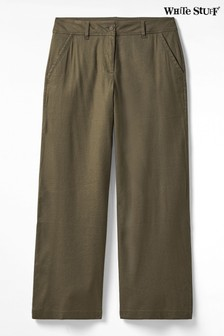 White Stuff Green Winona Wide Leg Trousers