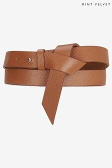 Mint Velvet Tan Tie Wrap Belt
