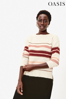 Oasis Natural Lilly Stripe Jumper