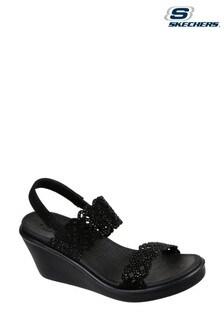 Skechers® Black Rumble On Sassy Dayz Sandals