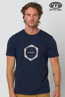 Animal Indigo Blue Lamary Graphic T-Shirt