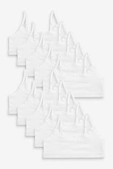 10 Pack Lace Trim Crop Tops (Older)