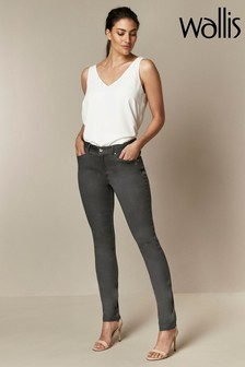 Wallis Grey Tinseltown Fly Front Jeans