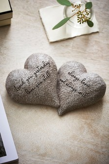 Stone Effect Love Heart Ornament