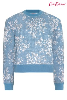 Cath Kidston® Washed Rose Cropped Sweat Top