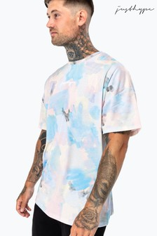 Hype. Mens Multi Pastel Oversized T-Shirt