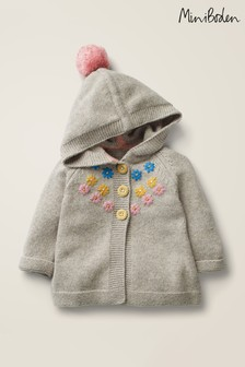 Boden Grey Pretty Knitted Jacket