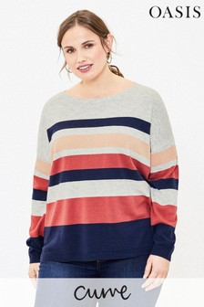Oasis Natural Curve Stripe Jumper