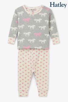 Hatley Grey Pasture Horses Baby Pyjama Set