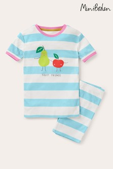 Boden Blue Fun Short John Pyjamas