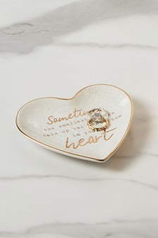 Heart Slogan Trinket Dish