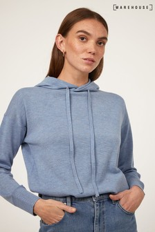 Warehouse Blue Hooded Jumper