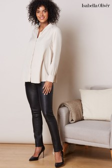 Isabella Oliver Black Rowsley Leather Leggings