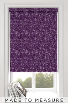 Blueberry Purple Sully Made To Measure Roller Blind