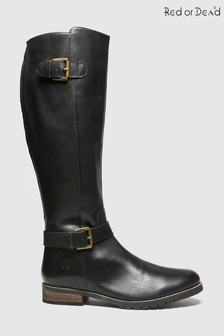 Red Or Dead Rod Radley Leather Hi Leg Boots