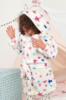 Star Print Fleece Dressing Gown (9mths-8yrs)