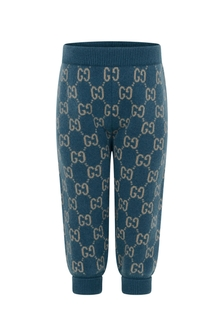 Baby Boys Blue Knitted Joggers