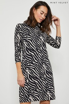 Mint Velvet Animal Print Jersey Mini Dress