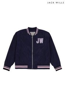 Jack Wills Girls Blue Wills Bomber Jacket