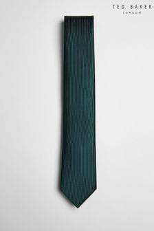 Ted Baker Green Blula Twill Silk Tie