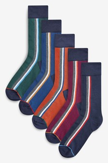 Side Stripe Socks Five Pack