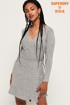 Superdry Rib Wrap Dress