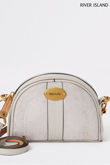 River Island Grey Half Moon Cross Body Bag
