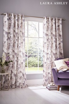 Laura Ashley Iris Wisteria Eyelet Curtains