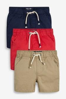Lot de 3 shorts à taille élastique (3 mois - 7 ans)