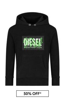 Diesel Black Cotton Sweat Top