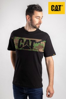 CAT® Black Camo Print T-Shirt