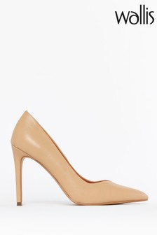 Wallis Natural Picasso Point High Heel Shoes