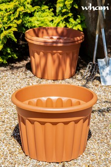 Set of 3 Vista 60cm Round Garden Planters by Wham