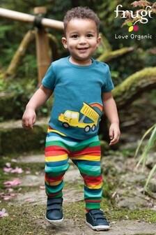 Frugi GOTS Organic Rainbow Striped Lightweight Kneepatch Joggers