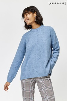 Warehouse Light Blue Nep Cosy Jumper