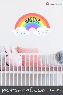 Personalised Rainbow Cloud Wall Sticker by Loveabode